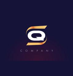 q letter logo design modern letter template vector image vector image