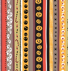 Seamless pattern Vintage Happy Halloween Flat vector image