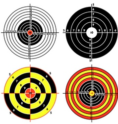 set targets for practical pistol shooting vector image vector image