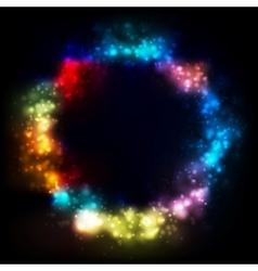 Shiny circle elegant design Gradient mesh vector image vector image