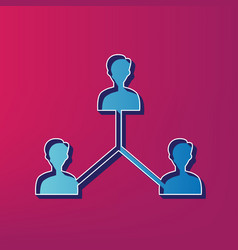 Social media marketing sign blue 3d vector