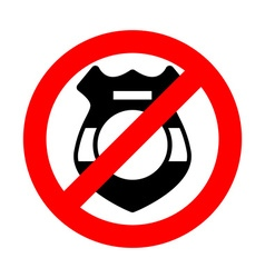 Stop cop It is forbidden by police Strikethrough vector image