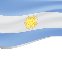 Waving flag of Argentina on white background vector image vector image