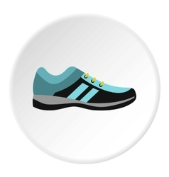 Running shoe icon flat style vector