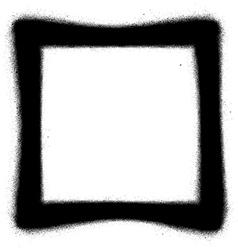 Square graffiti spray icon in black over white vector