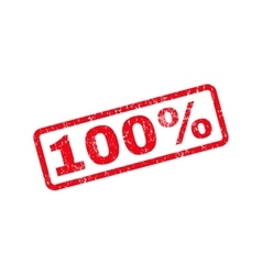 100 percent text rubber stamp vector