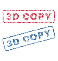 3d copy textile stamps vector