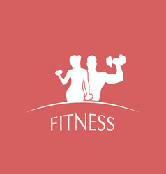 logo fitness club vector image