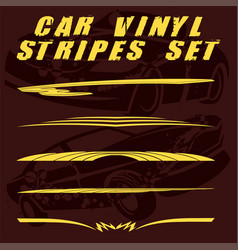 car stripe design set to print and cut on vinyl vector image