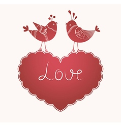 Love birds vector