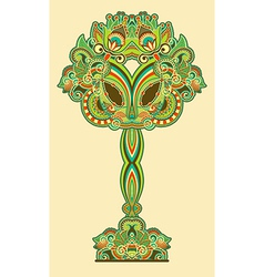 Oriental abstract ornamental floral tree vector