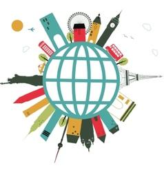 Travel globe vector
