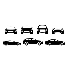 Car silhouettes vector