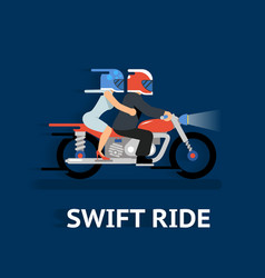 Cartooned swift ride concept design vector