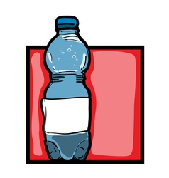 Mineral water bottle vector