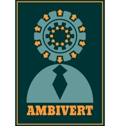 Ambivert metaphor simple human torso icon vector
