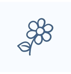 Flower sketch icon vector