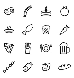 Thin line icons - food vector