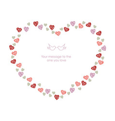 a message frame for valentines day vector image vector image