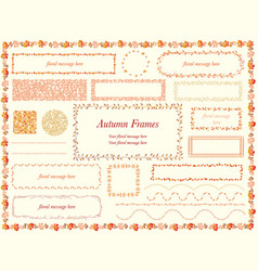 botanical frames in autumn colors vector image vector image