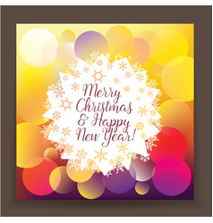 bright poster new year and christma vector image vector image
