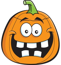 Cartoon jack o lantern vector