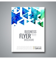 Cover report triangle geometric prospectus design vector