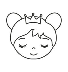 cute princess character icon vector image