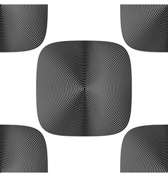 Design seamless monochrome geometric background vector