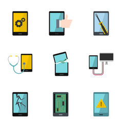 device repair icon set flat style vector image