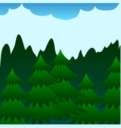 fir forrest card vector image