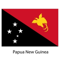 Flag of the country papua new guinea vector image