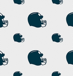 Football helmet icon sign seamless pattern with vector