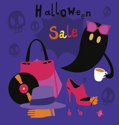 Halloween sale cartoon vector