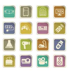 Home appliances icon set vector