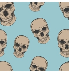 Human scull sketch pattern vector