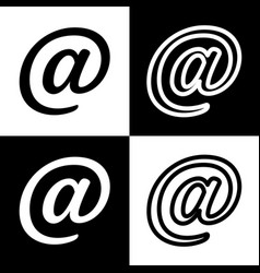 Mail sign black and white vector