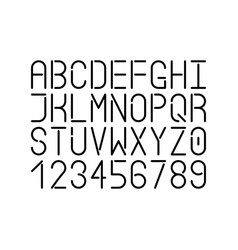 Modern single line font uppercase letters vector