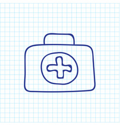 Of trip symbol on first aid vector