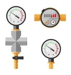 Pressure sensor manometer isolated vector