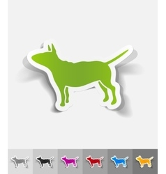 Realistic design element bull terrier vector