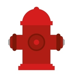 Red fire hydrant fire fighting vector