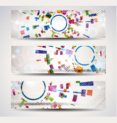 set of abstract header-banner vector image vector image