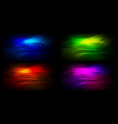 set of graphic backgrounds vector image vector image
