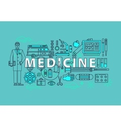 Set of medical icons or medicine items vector