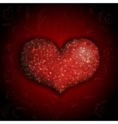 shiny heart vector image vector image