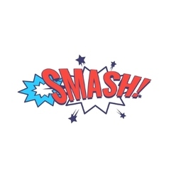 Smash Comic Speech Bubble vector image vector image