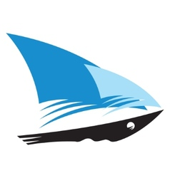 Speed ship sign vector