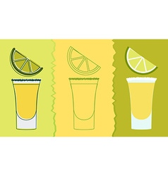 Tequila shot drink vector
