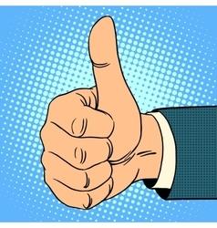 Thumb top gesture vector image vector image